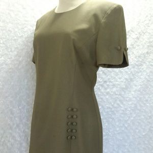 Vintage 80s Lois Snyder Midi Dress